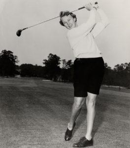 Mary Wright Golfing
